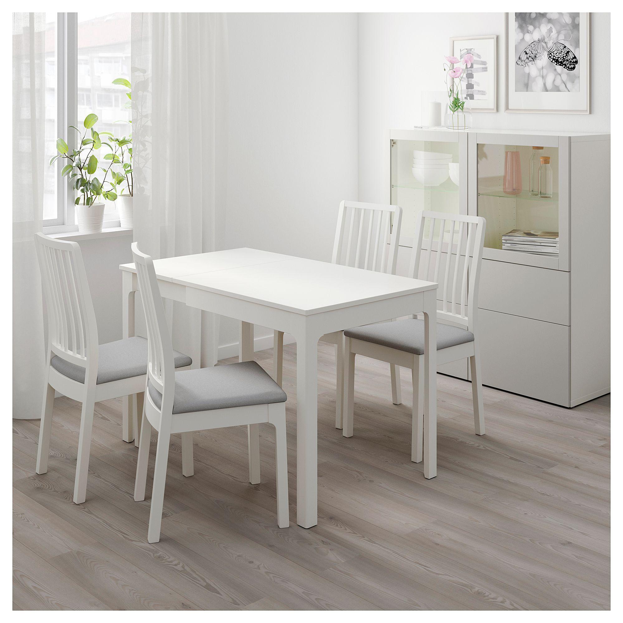 EKEDALEN Extendable table white 31 1/2/47 1/4x27 1/2