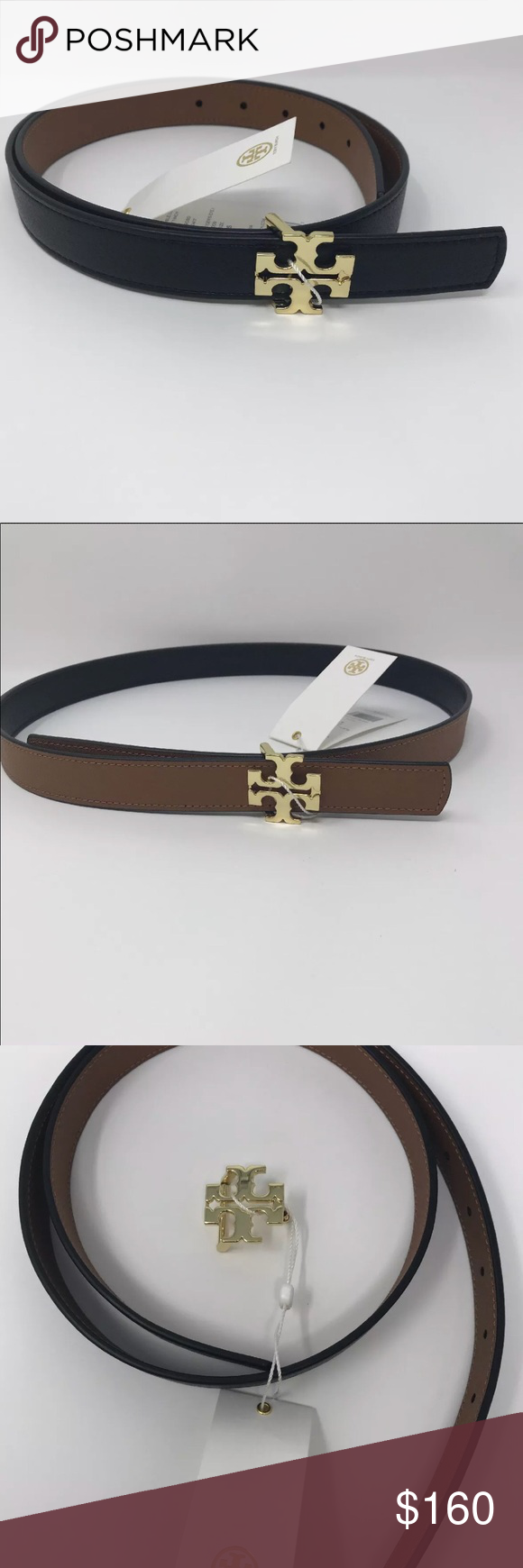08645d908d81 Tory Burch belt size S Leather belt Reversible logo black  brown 1 inch  wide - 100% Authentic Color  Tiger s Eye Black  brown Tory Burch Other
