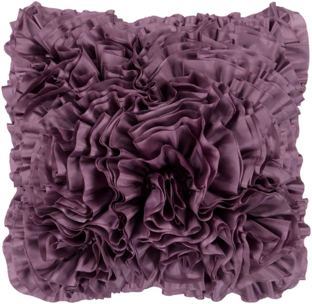 Solid Mauve Throw Pillow (Polyester