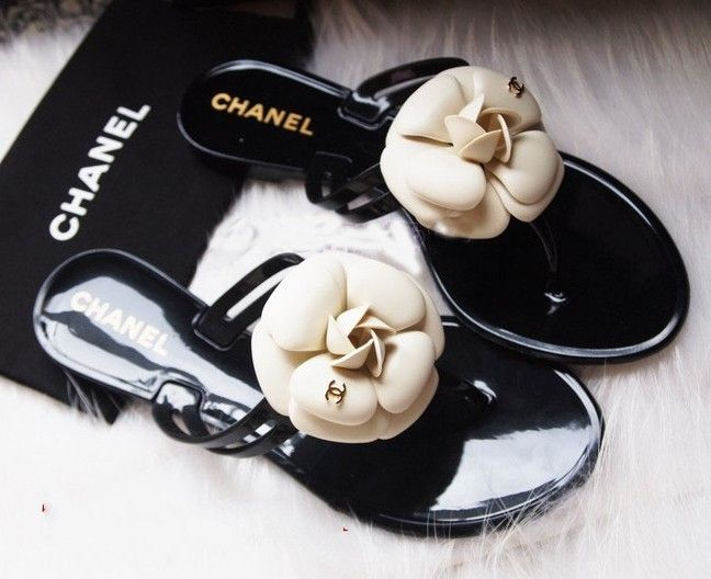 fb8b89f3a6ed chanel sandals with flower - Google Search