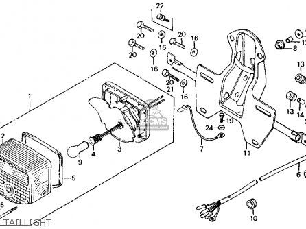 Honda Ct110 Trail 110 1986 Usa Taillight | Honda bike restore