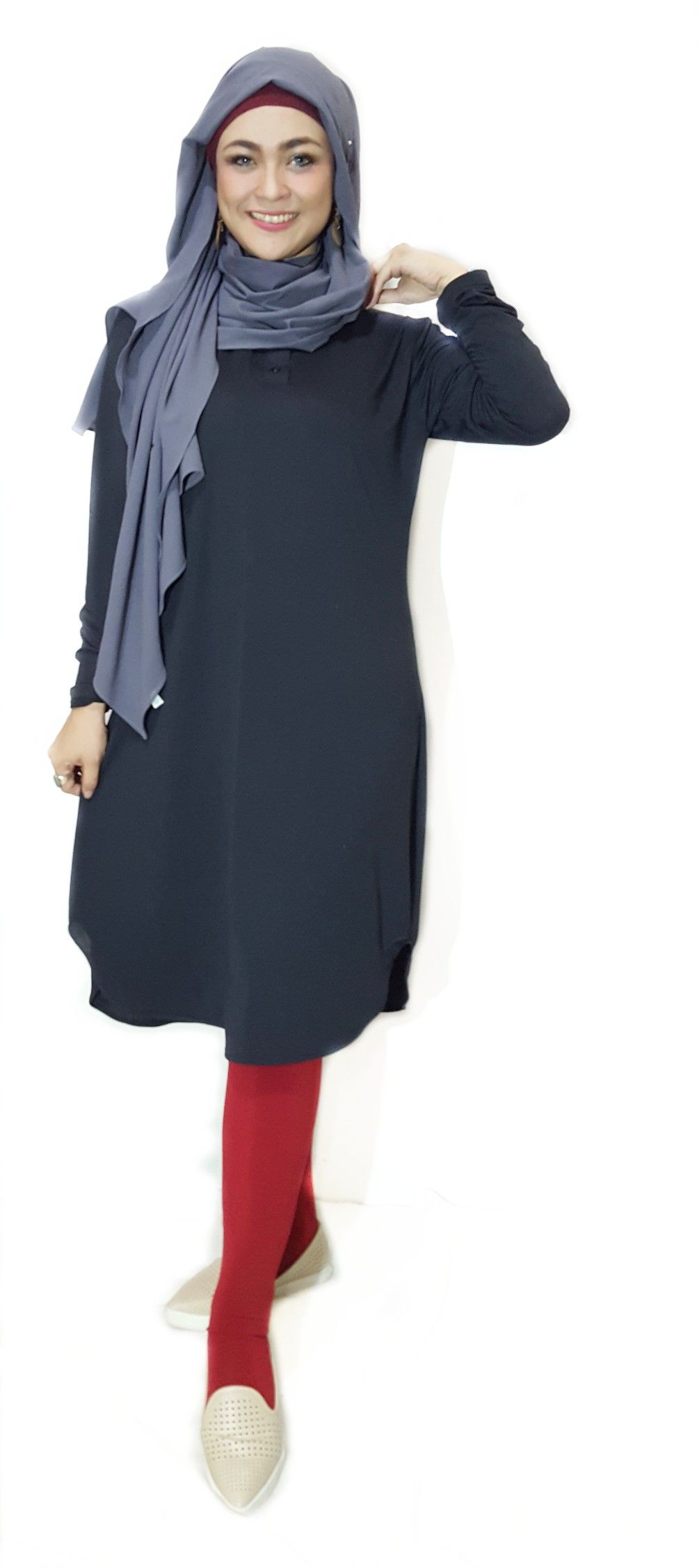 Tunic Basic Black Mix With Legging Wudhu Scarlet By Tunica Ind So Glams Make You More Confidence All About Fashion Tunica Fashion
