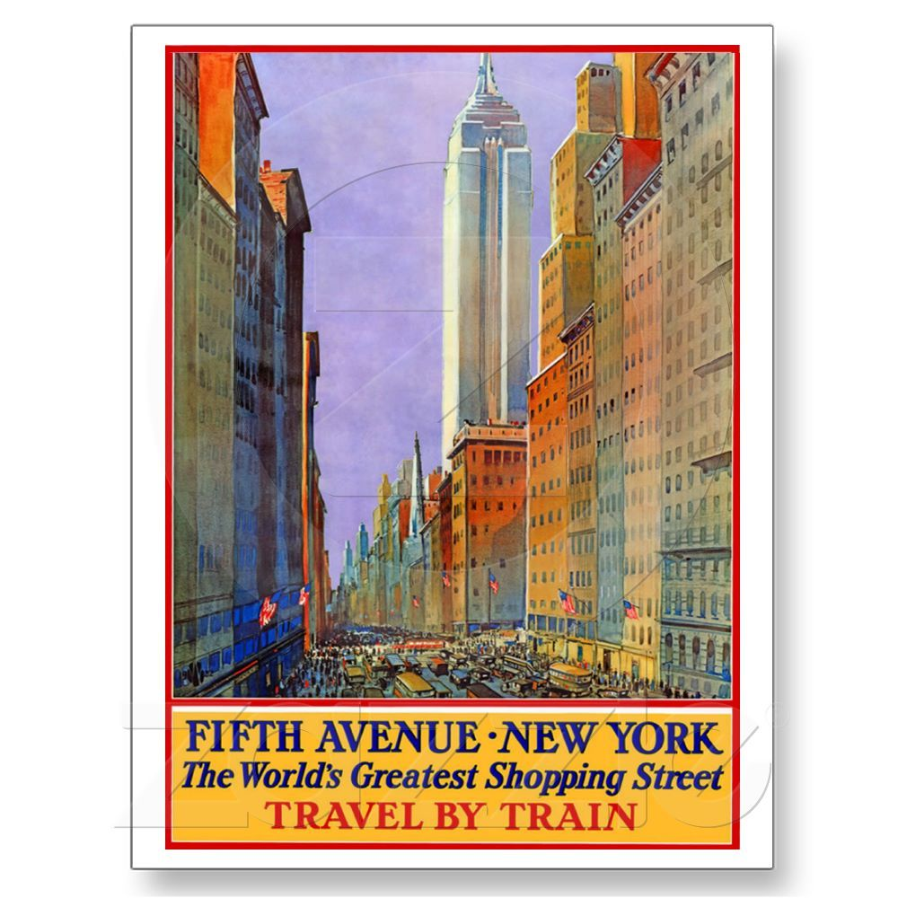 Fifth Avenue - New York Postkarte | Vintage travel and Destinations