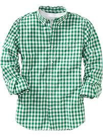 Men's Slim-Fit Gingham Shirts from Old Navy