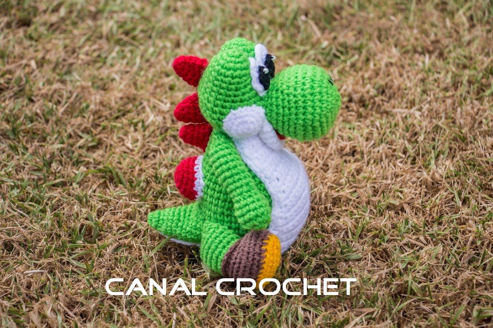 Nintendo Yoshi Amigurumi a Crochet - Patrón Gratis en Español y con ...