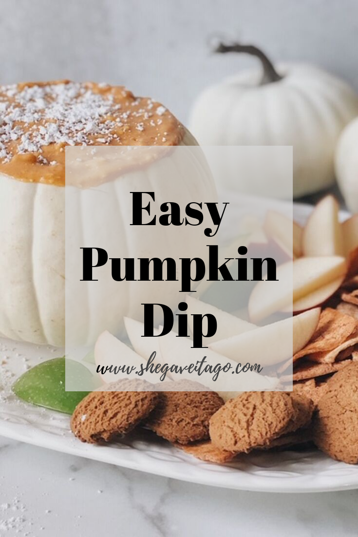 Easy Pumpkin Dip - She Gave It A Go