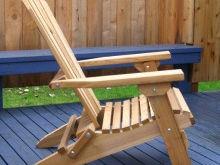Folding Cedar Adirondack Chair with Ottoman, Amish Crafted ...