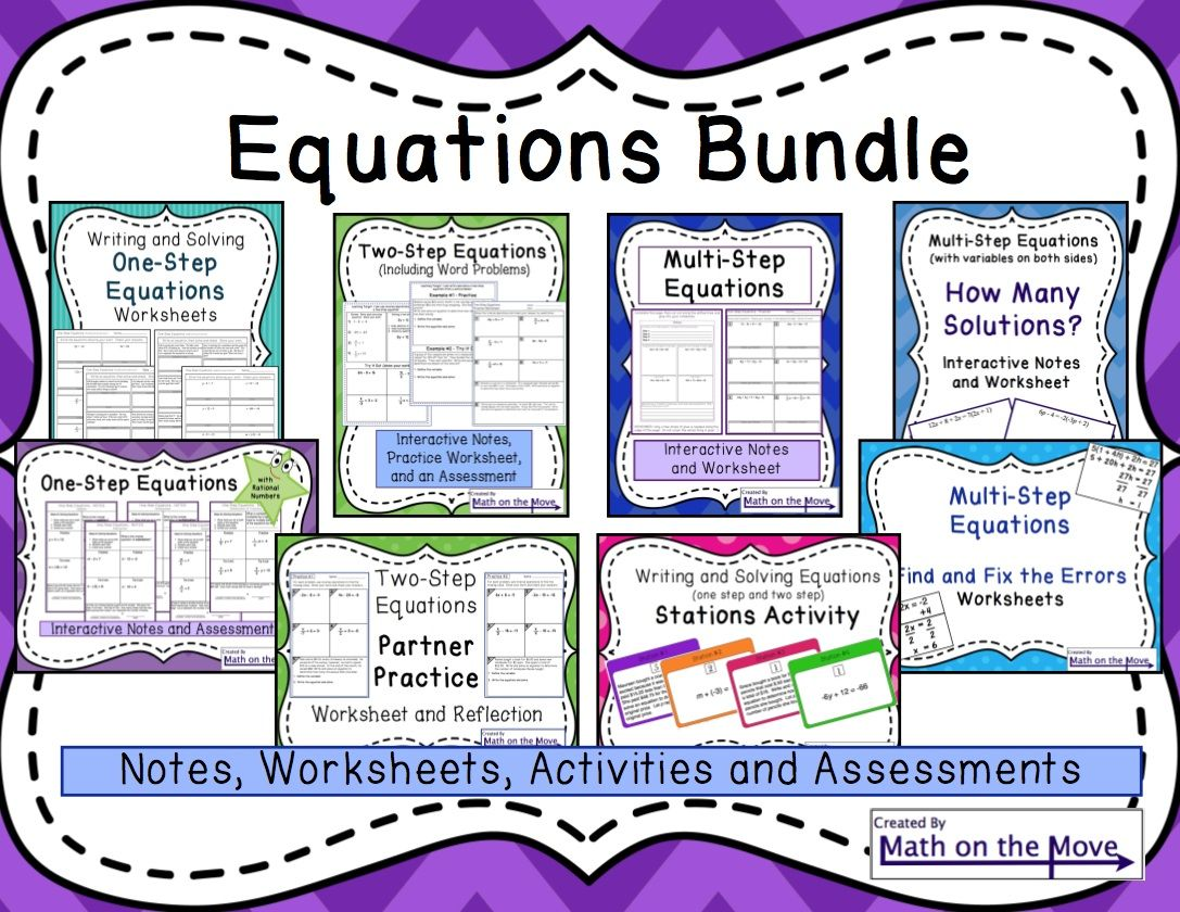 Equations Bundle One Two And Multi Step