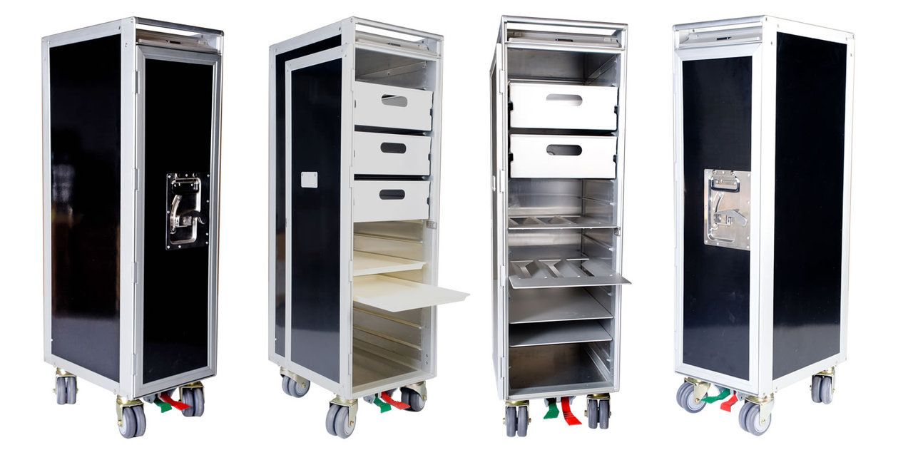 The Atlas type aircraft half size meal trolley is in brand new ...