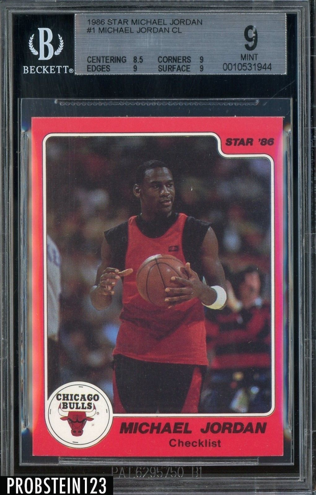 1986 star basketball 1 michael jordan chicago bulls rc
