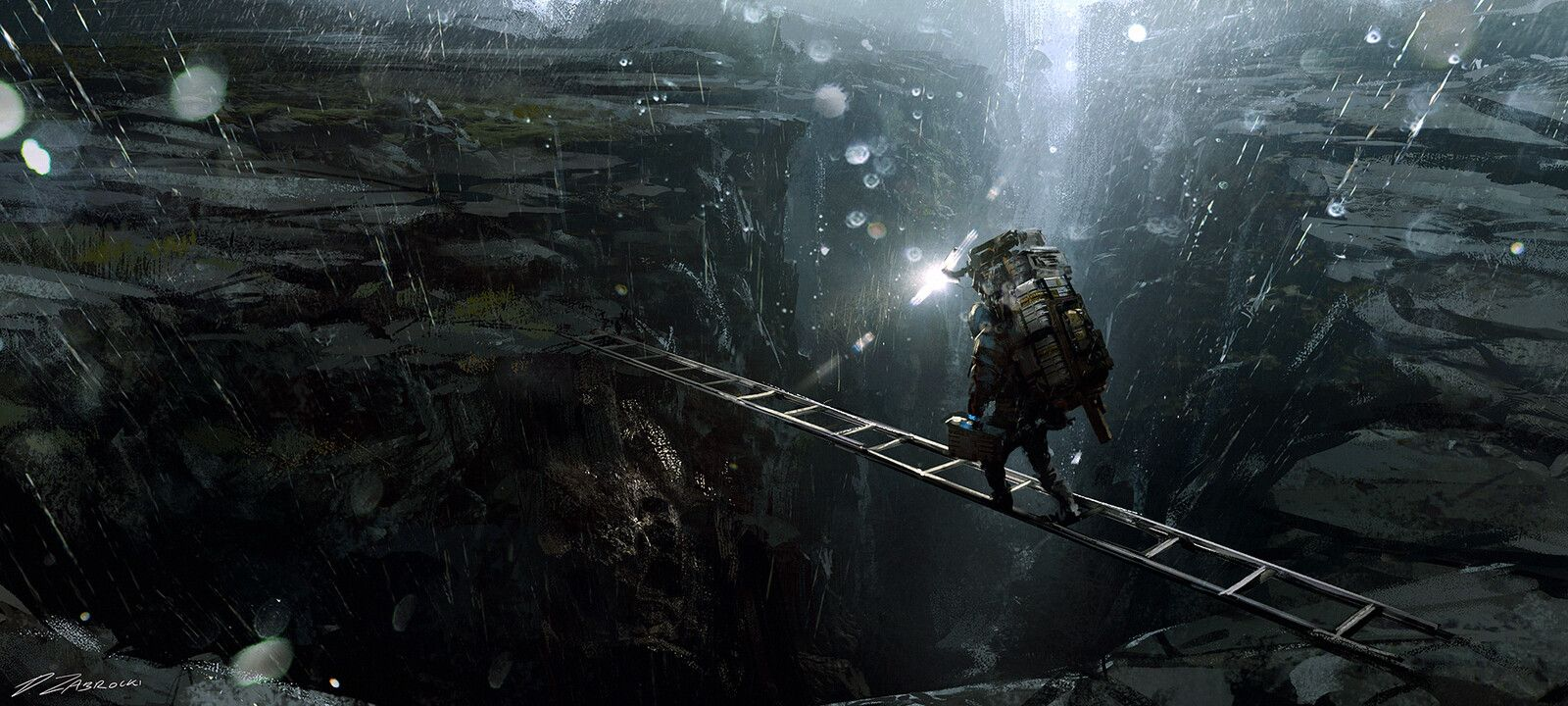 Death Stranding Passage Darek Zabrocki On Artstation At Https Www Artstation Com Artwork V1pmr3 Concept Art Concept Art World Video Game Art
