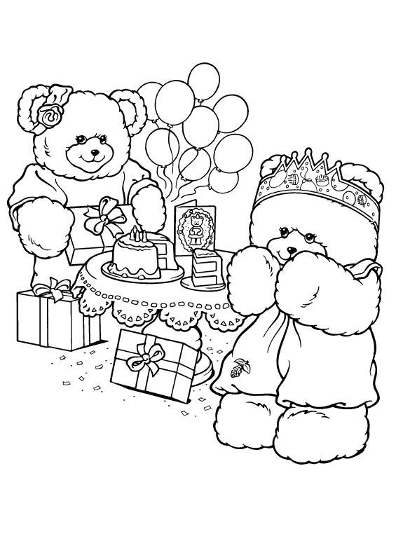Coloring Page Briarberry Bears