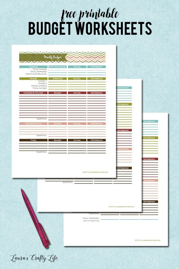 Day 19 Monthly Budget Worksheet Printable budget worksheet