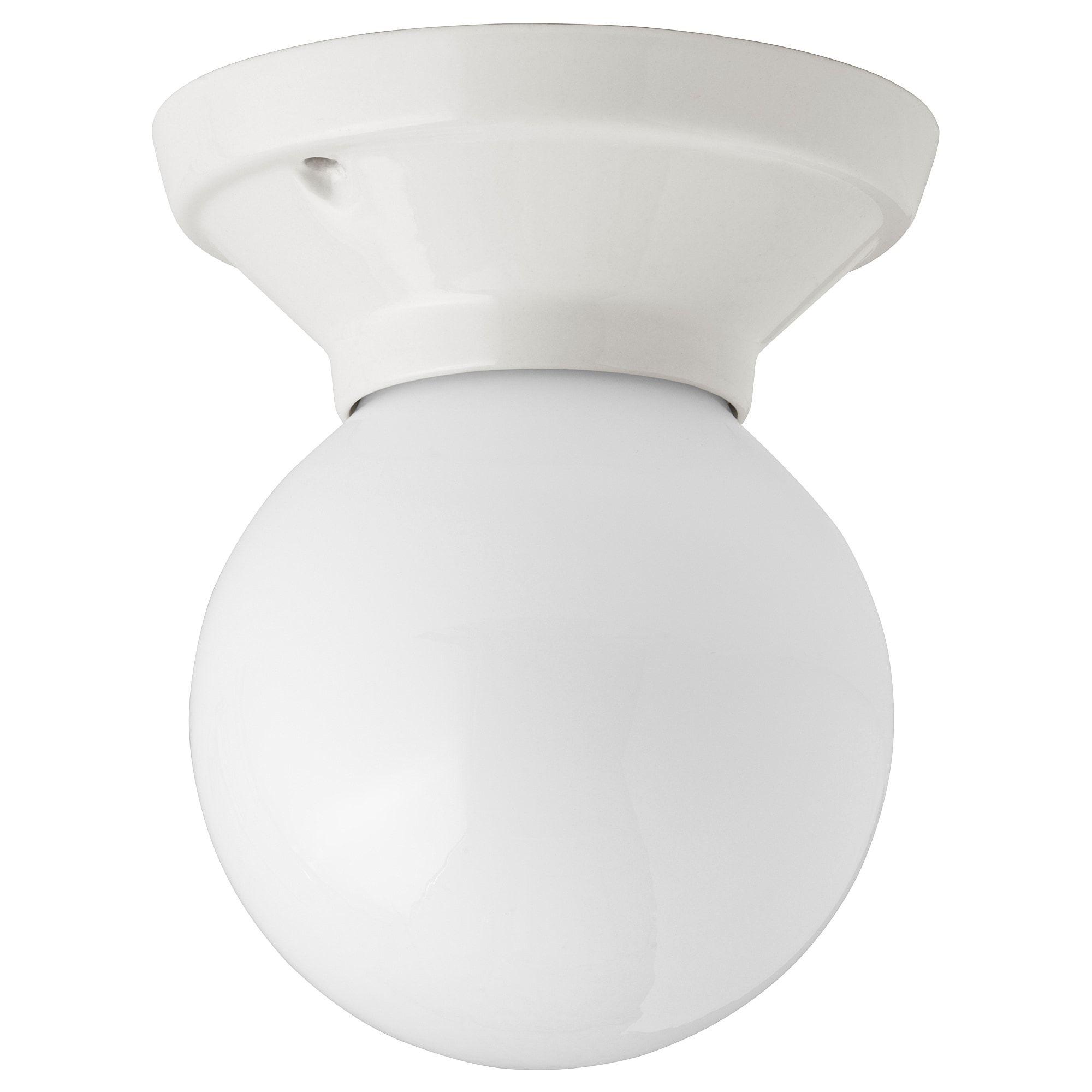 Ikea Vitemolla Lampara De Techo Pared Porcelana Ceramica Gres Vidrio Como Emite Una Luz Difuminada Es Lamparas De Techo Lampara De Pared Lampara De Tubo