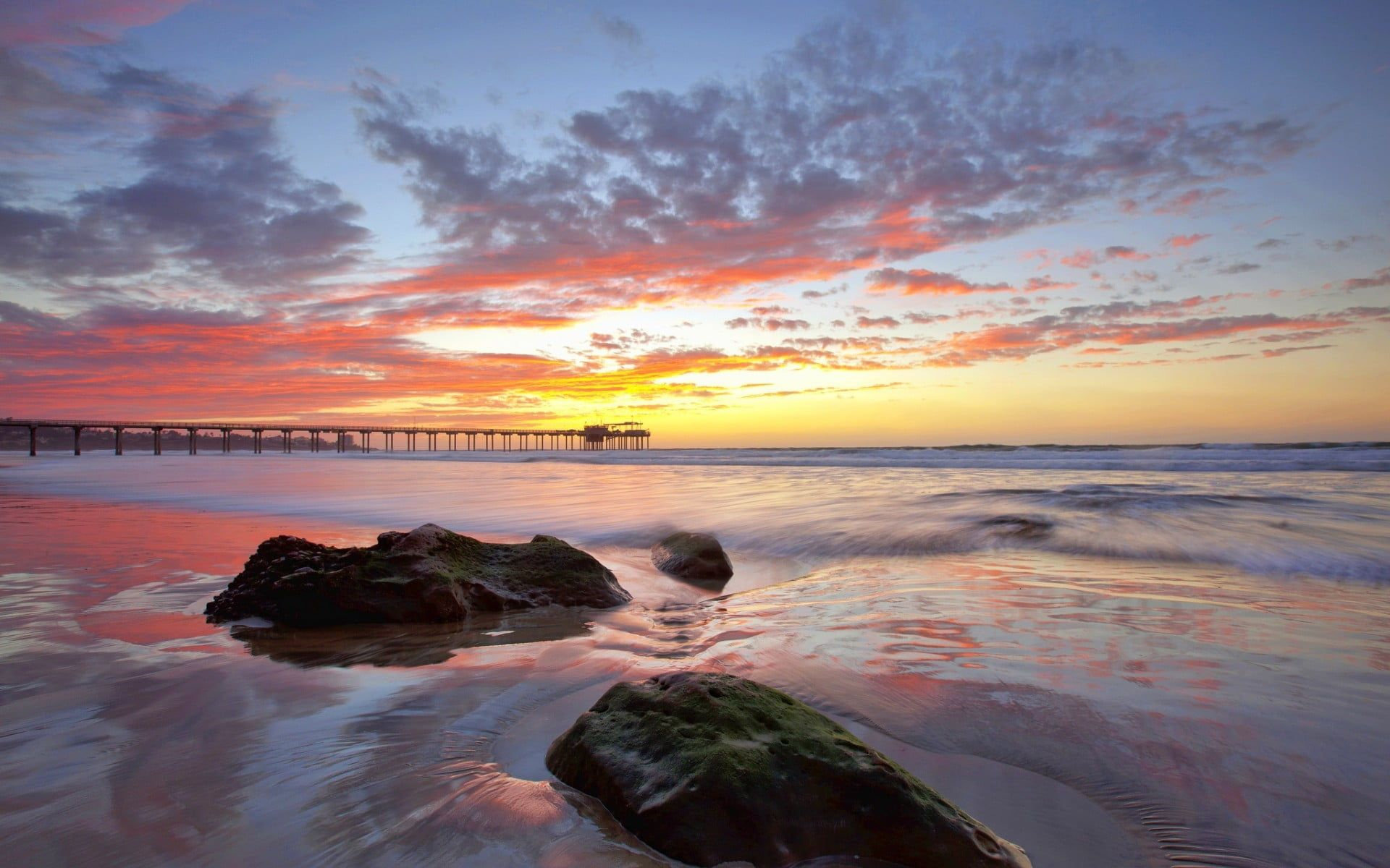 Rocks In Seashore During Golden Hour Beach Sky Horizon Pier Sea Sunlight 1080p Wallpaper Hdwallpa In 2021 Beach Sunset Wallpaper Sunset Wallpaper Hd Wallpaper Wallpaper sky clouds pier sea horizon