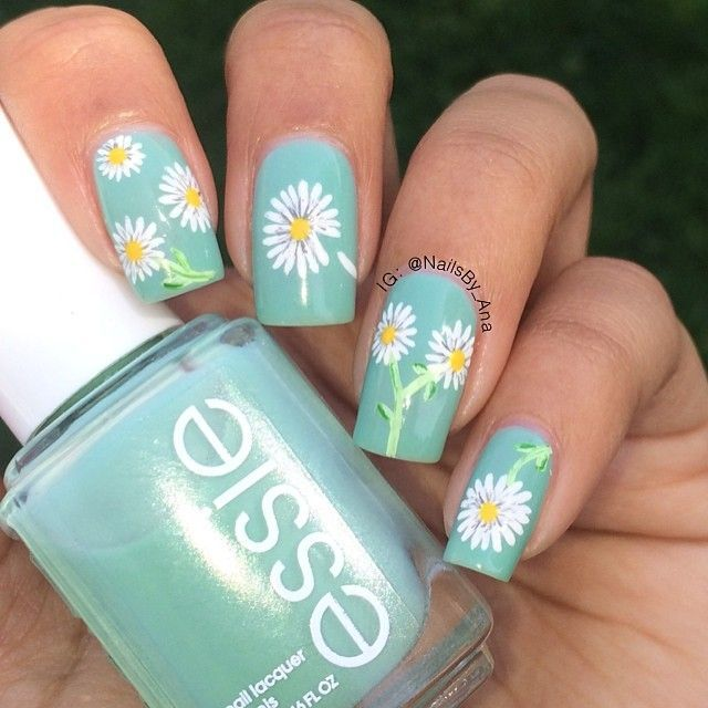 Floral nail art ideas daisy nail art daisy nails and nail nail daisy nail art prinsesfo Gallery
