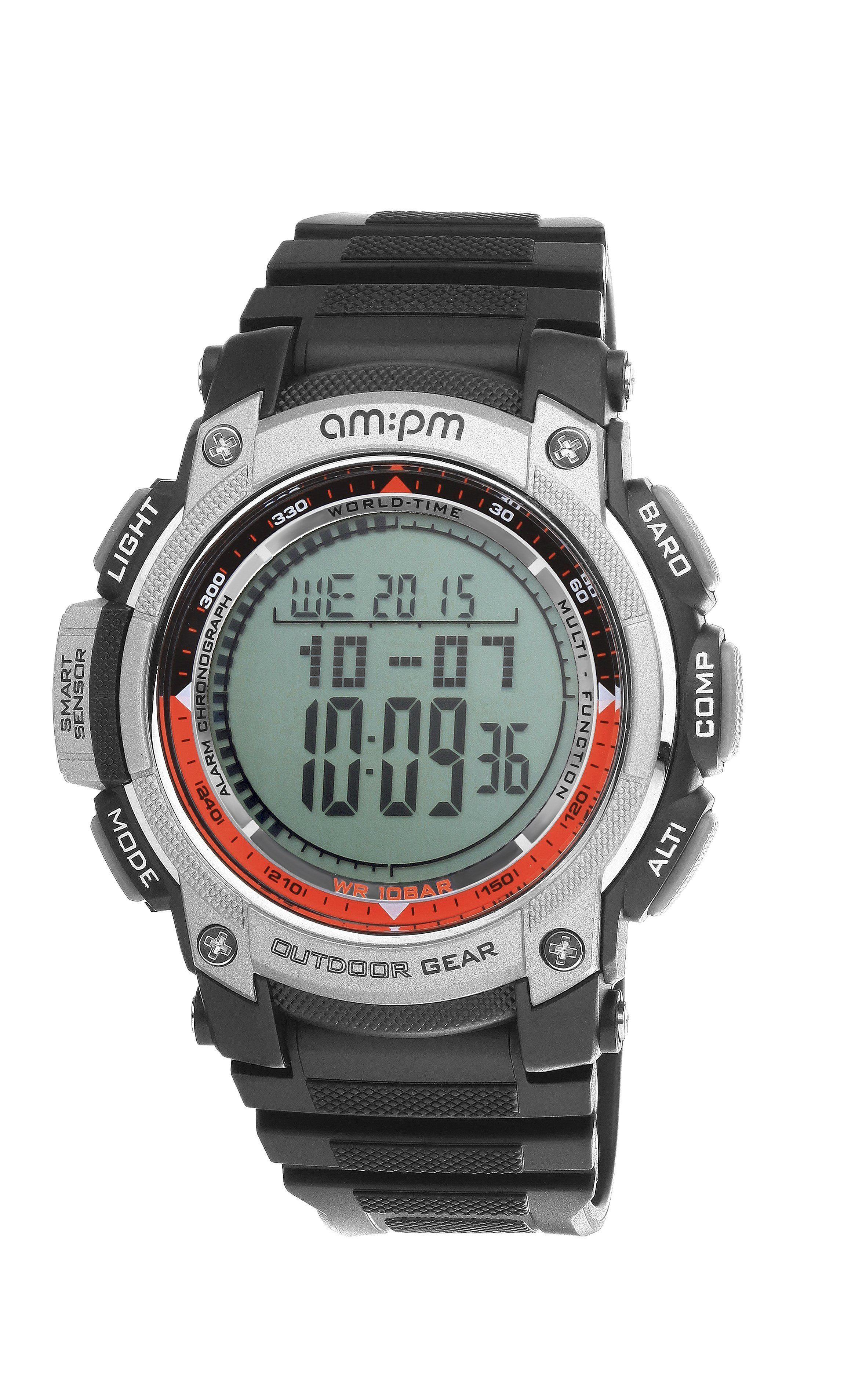 AM PM PC167-G406 Men s Outdoor Gear Digital Sports Watch Barometer ... 2610b5279