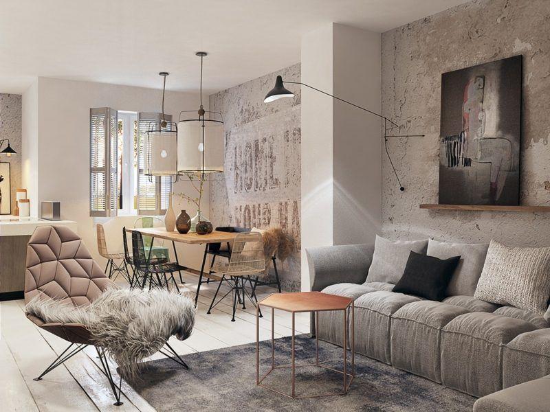 Mur Béton Comme Accent Dans Les Studios Contemporains U2013 Idées Et  Inspirations. Concrete InteriorsModern InteriorsBeautiful Home ...