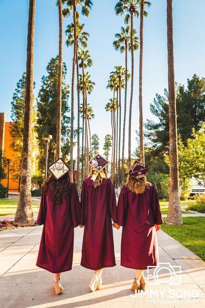 ASU Senior Grad Graduation Picture Ideas Dress Cap Gown Tempe Arizona Back to School Crafts
