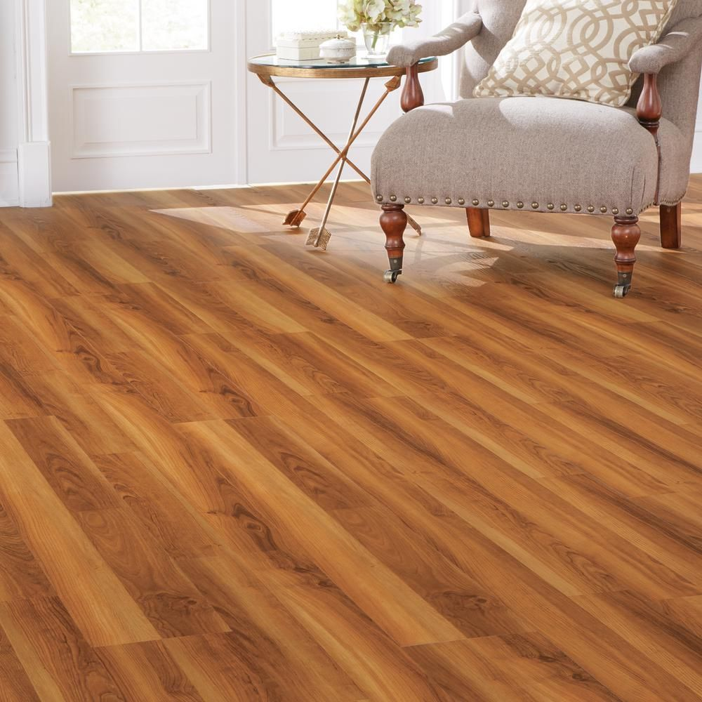 7 5 in x 47 6 in warm cherry luxury vinyl plank flooring Home decorators collection flooring installation