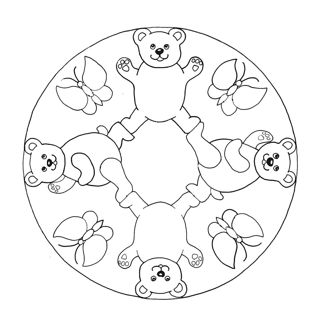 Mándalas-para-Colorear-por-Niños-1.jpg (1356×1364) | Mandalas ...
