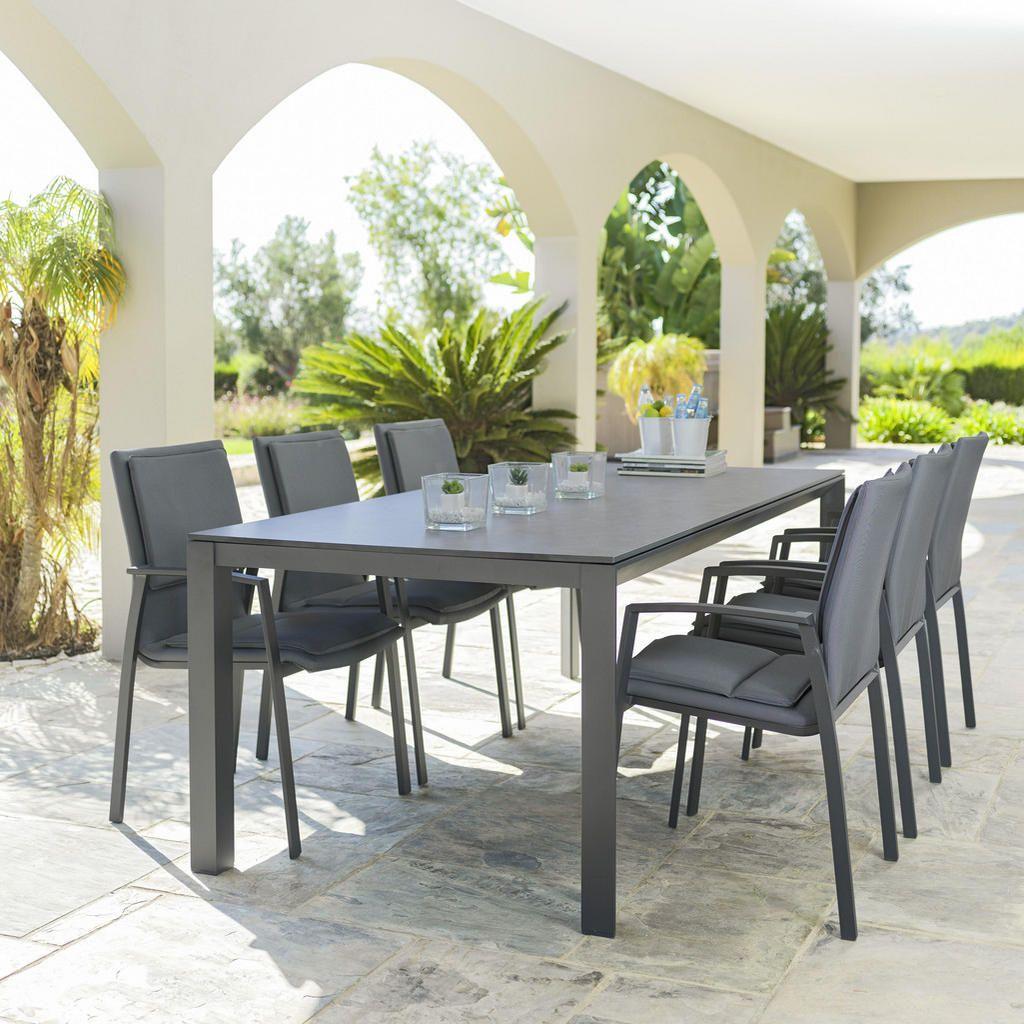Amatio Gartentisch 220 100 75 Cm Anthrazit Grau In 2021 Gartentisch Terrassen Tische Sessel