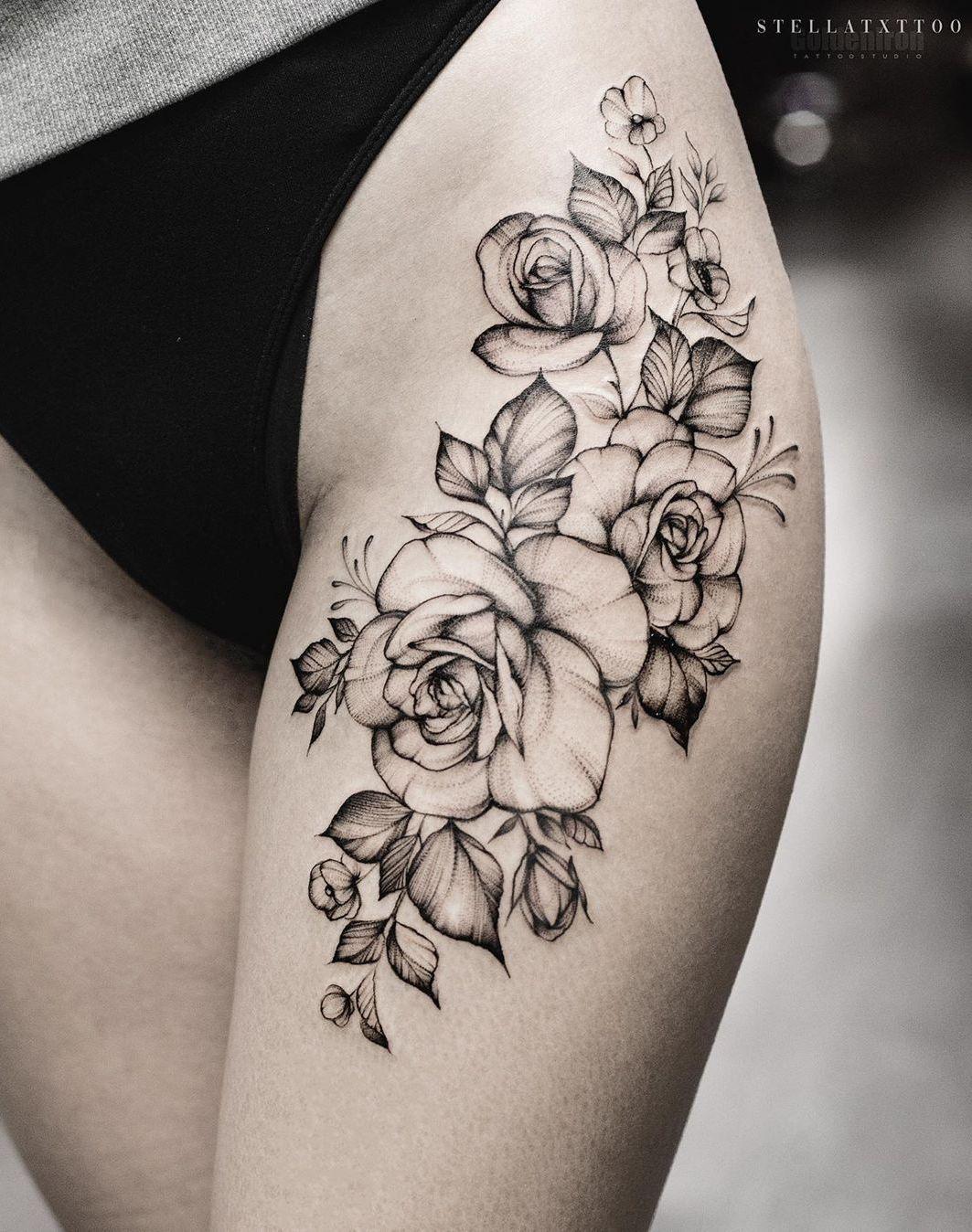 Pin On Thigh Tattoo Ideas