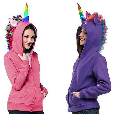 Unicorn Costume Hoodie Adult Womens u0026 Teen Girls Halloween Fancy Dress  sc 1 st  Pinterest & Unicorn Costume Hoodie Adult Womens u0026 Teen Girls Halloween Fancy ...