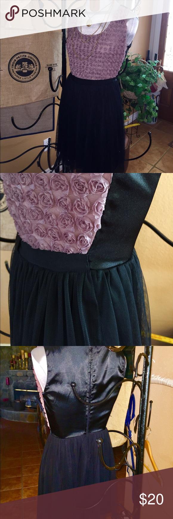 BeBop Sweet little rose dress All occasion BeBop dress in black and deep mauve color size S BeBop Dresses Mini