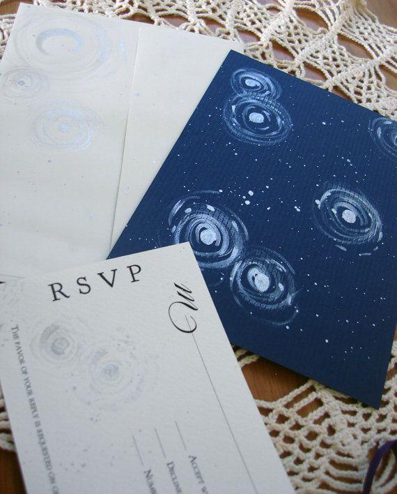 Starry Night Wedding Invitations Van Gogh By