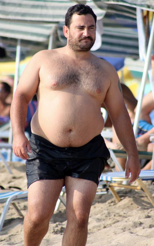chubby man muscle
