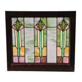 A Set Of Four Matching Vibrantly Colored Craftsman Style Leaded Art Glass Windows Sal Antique Stained Glass Windows Stained Glass Windows Stained Glass Panels