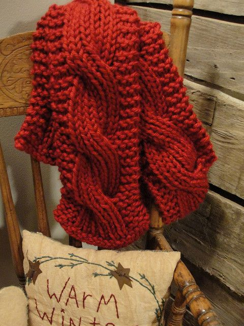 Reversible Big Cable Scarf Pattern By Meredith Kelly Knit