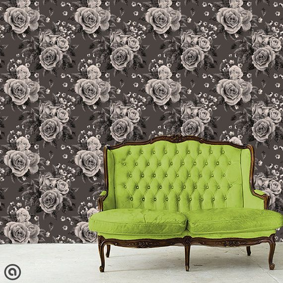 Haute Couture Removable Wallpaper Smokey Corsage L Stick Self Adhesive Fabric Temporary