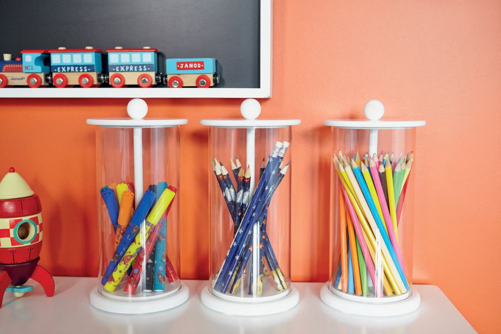 Lift Up Pen Pot, Desk Organiser, Stationary Storage, Pen Pots