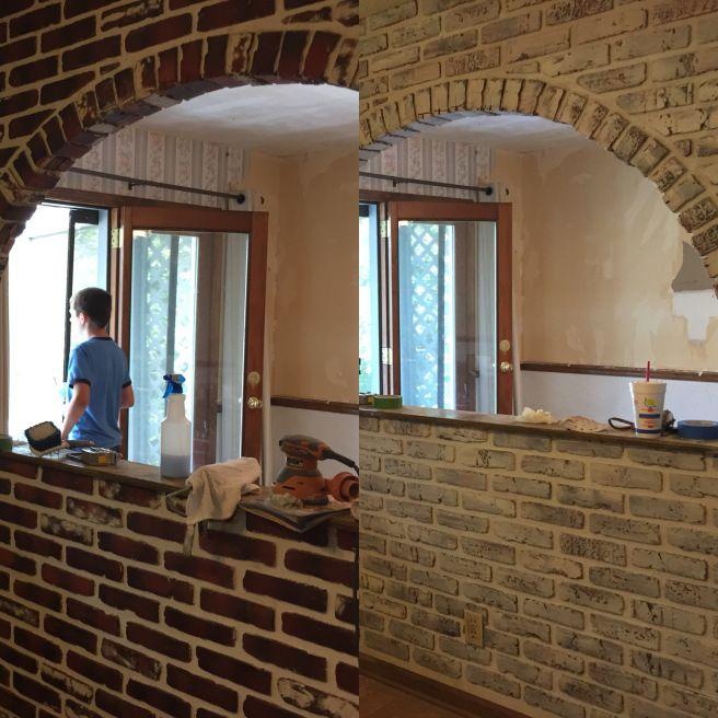 Whitewashing brick