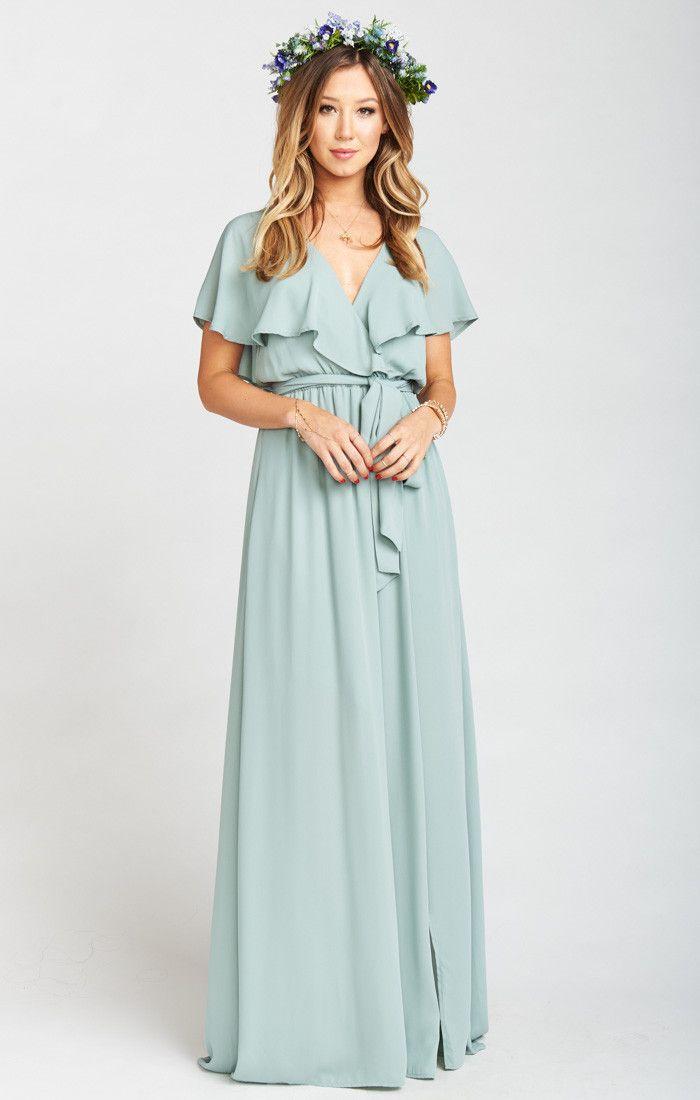 Audrey Maxi Dress ~ Silver Sage Crisp | Wedding, Dress ideas and ...