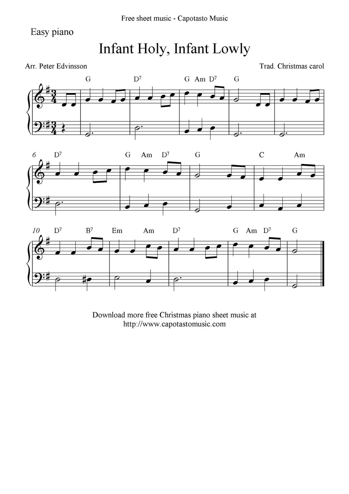 Christmas guitar tab sheet music, White Christmas and more