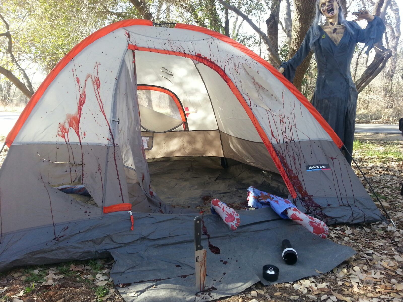 Ideas for halloween haunted trail google search ahe for Haunted woods ideas