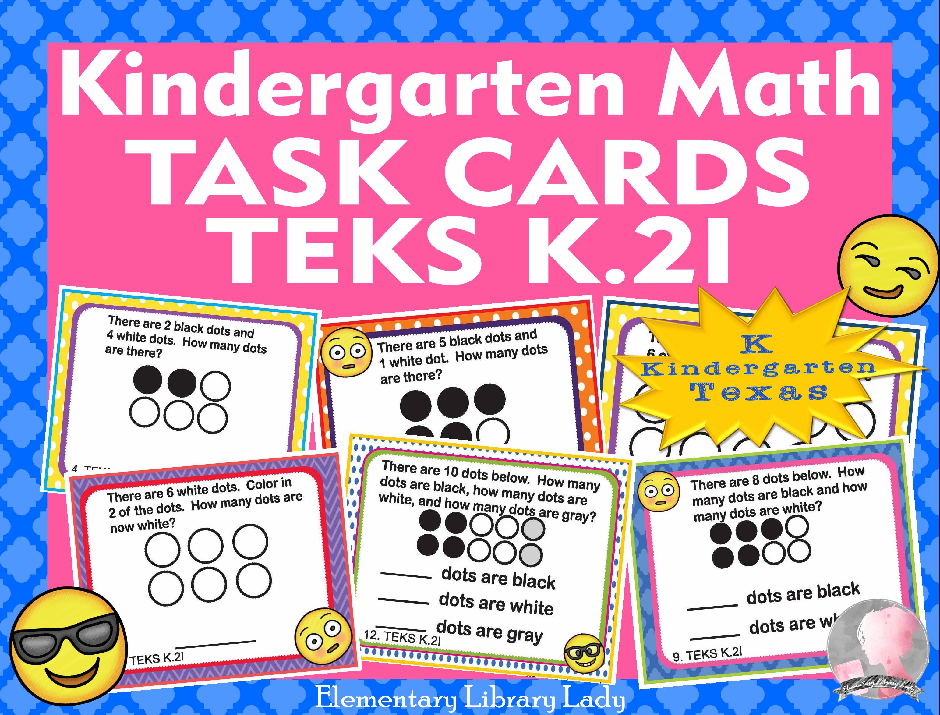 Math Teks K 2i Texas Kindergarten Task Cards Compose