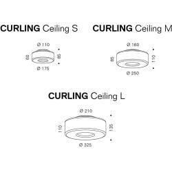 Photo of serien.lighting Curling Led ceiling light Ø 25cm (Curling M) glass shade opal 27W Led (1-10V / for 5