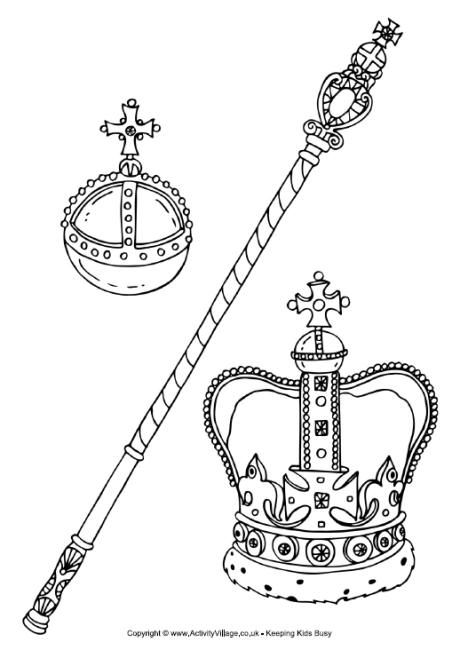 Royal Regalia Colouring Page Family Coloring Pages Family