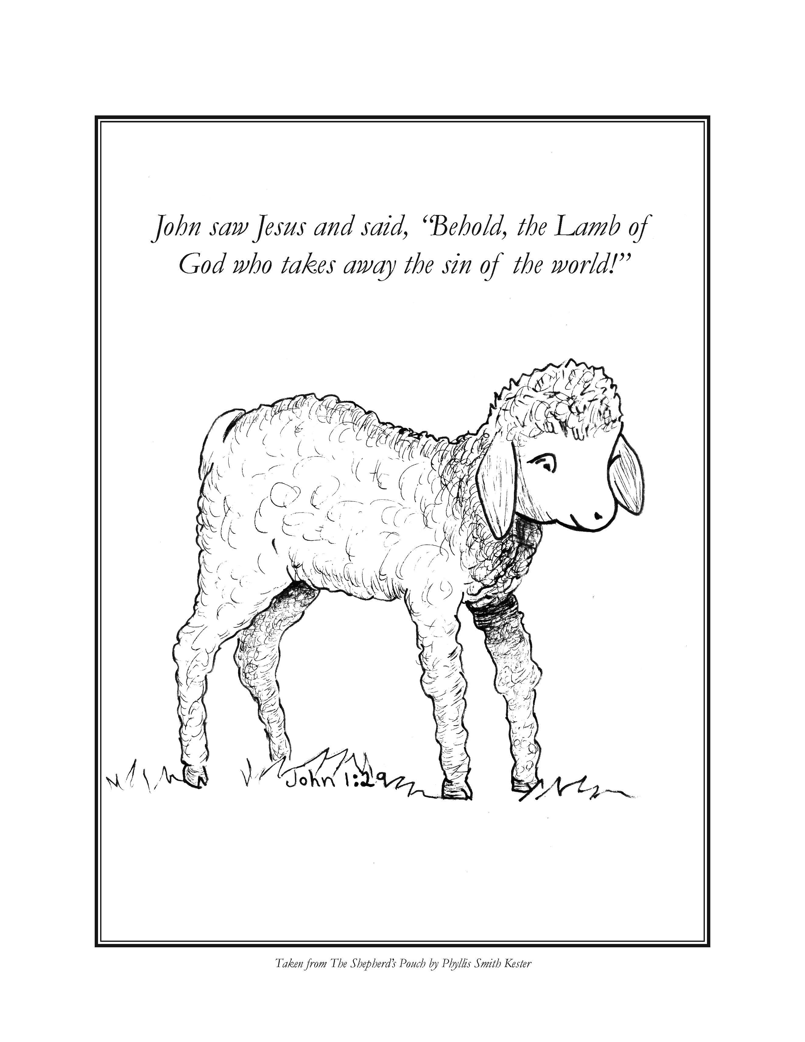 Coloring Pages on Jesus as Good Shepherd and the Parable of the Lost