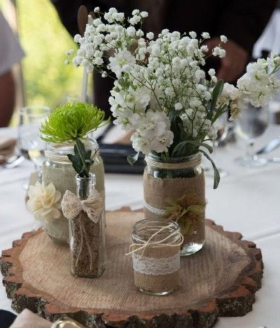 Centro de mesa casamiento 15 a os rustico vintage - Centros de mesa para quinceaneras ...
