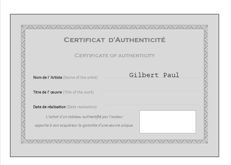 certificats d u0026 39 authenticit u00e9 peinture