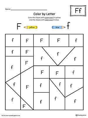 uppercase letter f color by letter worksheet alphabet letters letter worksheets letter f. Black Bedroom Furniture Sets. Home Design Ideas
