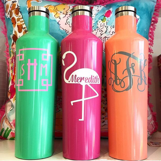 f09efccd3eb Corkcicle 25 oz canteens are officially our favorite! & even better  personalized #monogrameverything