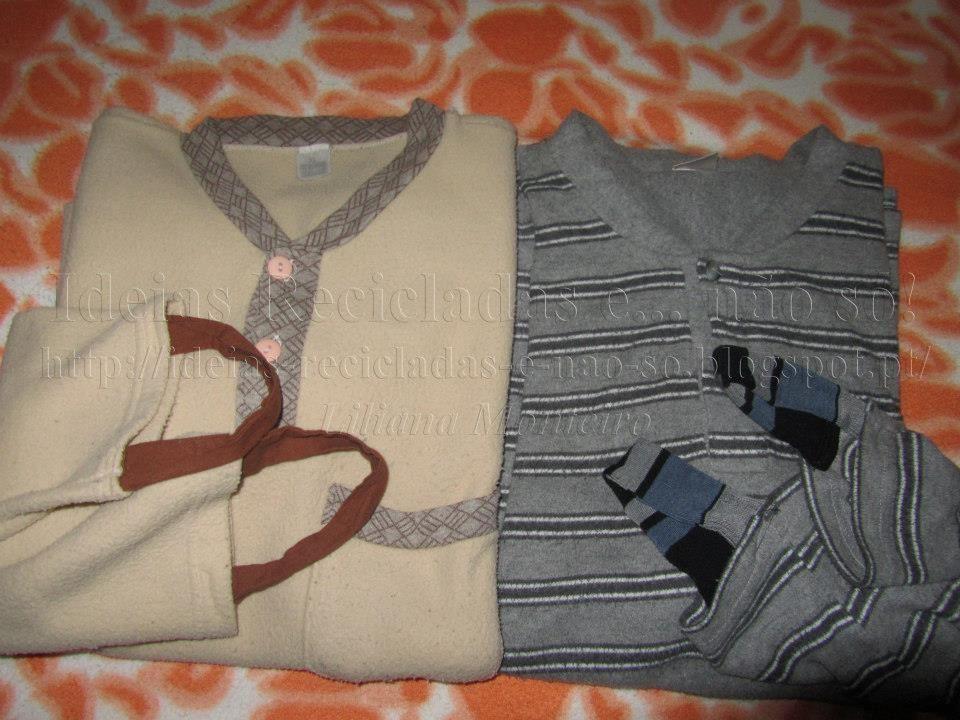 Como evitar que as mangas dos pijamas subam pelo braço. Reciclagem. Tecidos.
