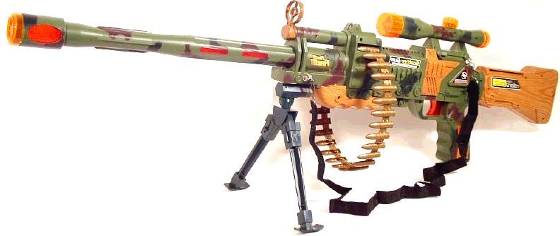 Toy Gun: No.60 Electronic Toy Machine Gun(with Tripod)