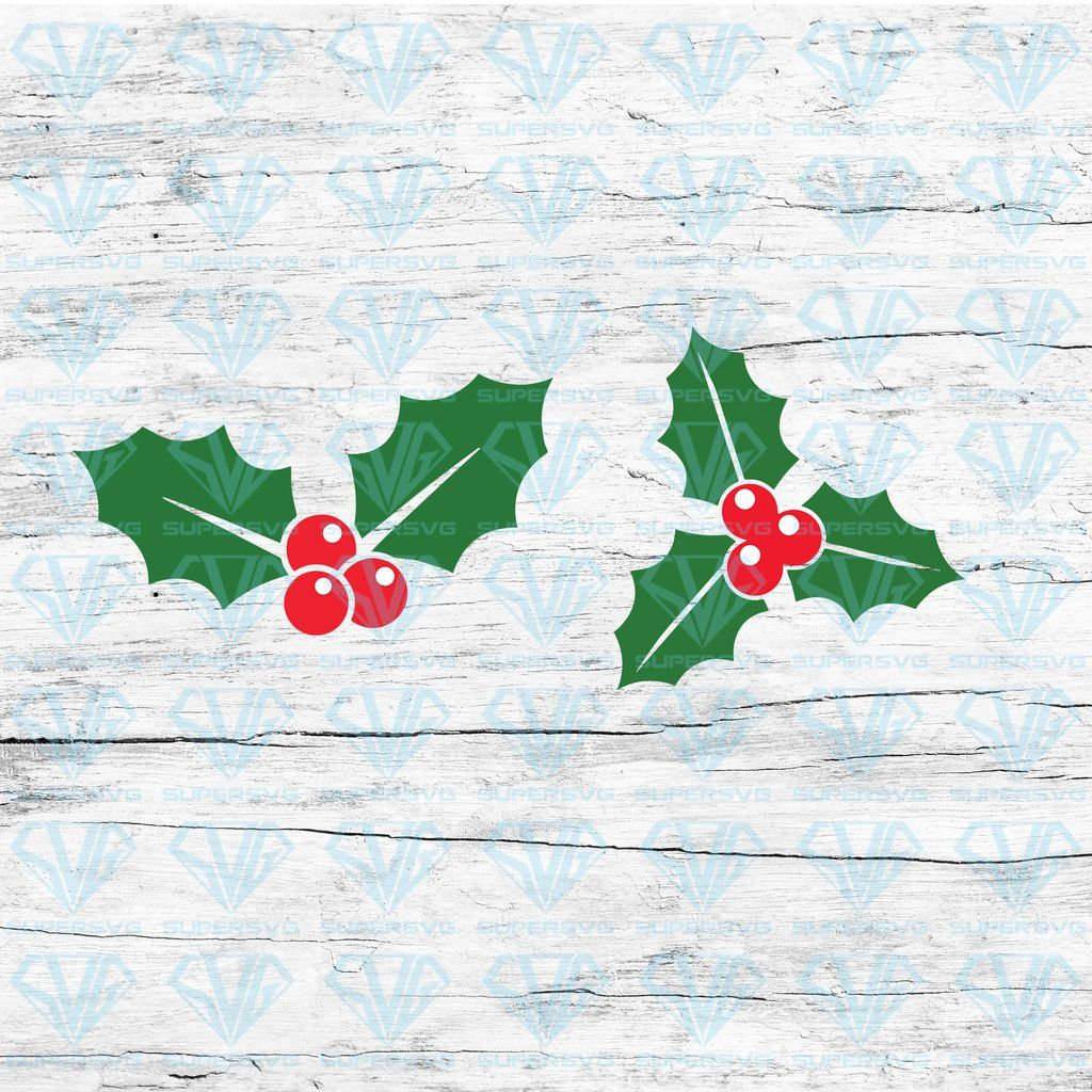 Christmas Holly Bundle SVG Files For Silhouette, Files For
